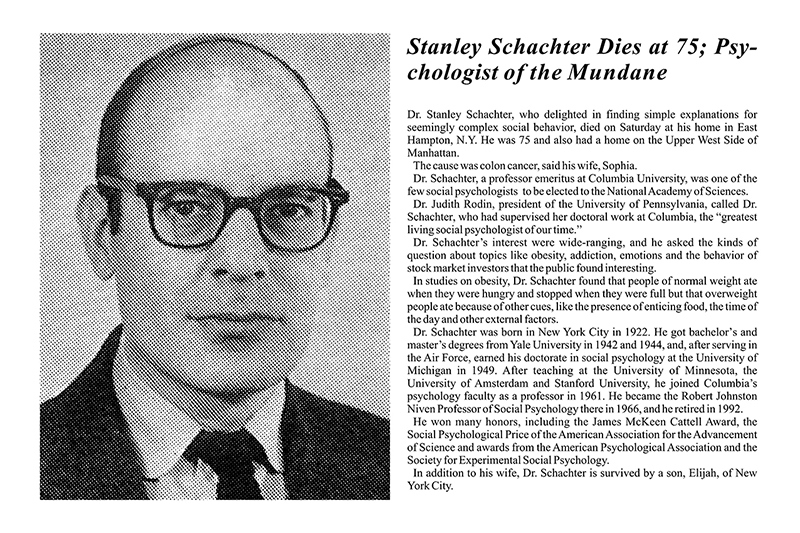 Stanley schachter quotes